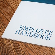 CompanyEmployee Handbook As Organisational Improvement Tool