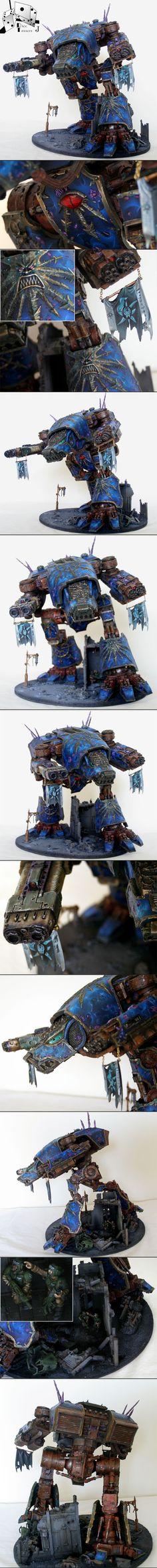 Js Feral Chaos Warhound Titan - Suns of Damnation Tzeentch