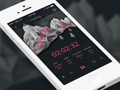 Trail Running Tracking Mobile App | User Interface Design #UI