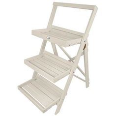 Step Ladder Plant Stand, White - farmhouse - outdoor planters - by Parpadi Outdoor Planters, Outdoor Chairs, Outdoor Decor, Outdoor Living, Step Shelves, Garden Furniture, Outdoor Furniture, Fallen Fruits, Wooden Plant Stands