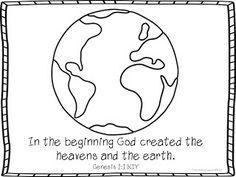 Genesis 1:1 Coloring and activities by Pirate Girls Education
