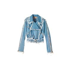Fashion Trends: Rocker Jeans - 2009 Fashion on ELLE ❤ liked on Polyvore featuring outerwear, jackets, tops, rocker jacket and blue jackets