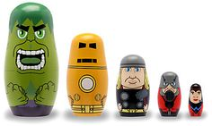 Avengers Wooden Nesting Doll Set