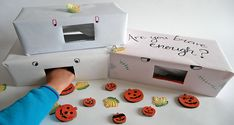 Halloween feely boxes are a must have for any children's Halloween party. They are fun and easy to make and children are sure to have fun playing with them. Childrens Halloween Party, Halloween Crafts, Sensory Play, Educational Activities, Fun Things, Have Fun, Arts And Crafts, Boxes, Craft Ideas