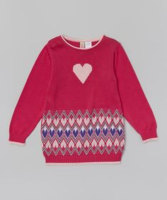 This Sophie & Sam Fuchsia Heart Sweater - Infant & Toddler by Sophie & Sam is perfect! #zulilyfinds