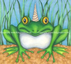 Faerie and fantasy artist's upcoming picture book - a tale about a Froggicorn!!