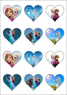 Other Cake Decorations & Cake Toppers Frozen Cupcake Toppers, Frozen Cupcakes, Frozen Cake Topper, Frozen Birthday Theme, Frozen Theme Party, Frozen Free, Cupcake Images, Frozen Heart, Frozen Princess