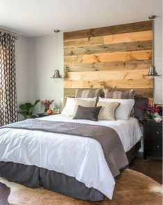 Small Master Bedroom Ideas for Couples Decor_30 Contemporary Bedroom, Modern Bedroom, Bedroom Decor, Trendy Bedroom, Bedroom Ceiling, Contemporary Wallpaper, Bedroom Wall, Contemporary Headboards, Mirrored Bedroom