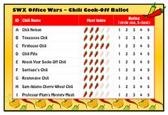 The Chili Cook-off Ballot I made for our contest at work...