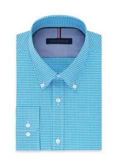 Tommy Hilfiger Men's Non Iron Slim Fit Dress Shirt - Pool - 16.5 32/33