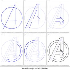 How to Draw Avengers Logo printable step by step drawing sheet : DrawingTutorial. - How to Draw Avengers Logo printable step by step drawing sheet : DrawingTutorial… How to Draw A - Logo Avengers, Avengers Art, Marvel Art, Avengers Painting, Avengers Tattoo, Avengers Memes, Cool Art Drawings, Art Drawings Sketches, Easy Drawings