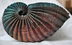 *Lizzie Sanders', Torquay - copper nautilus - Etsy - love the texture and colours