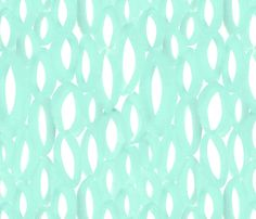 Hand-painted fabric design by Domesticate; available through Spoonflower (inspired by schools of fish!) #fabric #turquoise