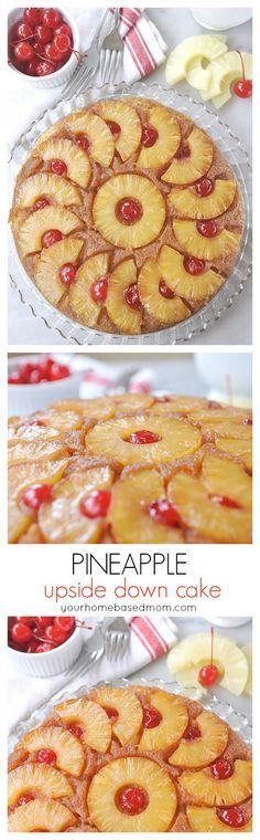Pineapple Upside Down Cake Dessert Recipe - a family favorite -  This is a classic and one of the first things I ever baked!