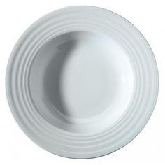 Farfurie adanca realizata din portelan alb, lucios. Produsul se gaseste in diferite marimi, cu diametrul de 22 cm si 30 cm.