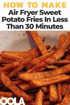 Yummy Air Fryer Sweet Potato Fries In Less Than 30 Minutes - Air Fryer Recipes Air Fryer Recipes Appetizers, Air Fryer Oven Recipes, Air Frier Recipes, Air Fryer Dinner Recipes, Air Fryer Recipes Potatoes, Air Fryer Recipes Vegetables, Veggies, Air Fryer Sweet Potato Fries, Sweet Potato Fries Healthy