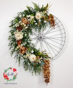 Dumbfounding Tips: Car Wheels Furniture car wheels furniture boy rooms.Car Wheel… Dumbfounding Tips: Car Wheels Furniture car wheels furniture boy rooms.Old Car Wheels Ideas. Diy Wreath, Door Wreaths, Decoration Evenementielle, Deco Floral, Diy For Kids, Floral Arrangements, Diy And Crafts, Craft Projects, Upcycling Projects