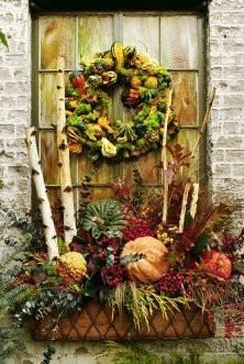 Beautiful fall window box.