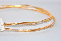 STEFANA Gold Plated Twisted Greek Orthodox Wedding Crowns /