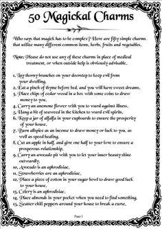 50 Magickal Charms
