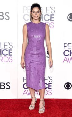 """Ashley Greene from People's Choice Awards 2017 Red Carpet Arrivals  After stylist Cristina Ehrlich shared a """"sneak peek"""" of her client's look, the newly engaged Twilight star stepped out."""