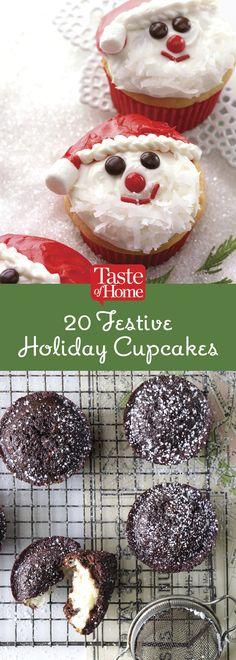 20 Festive Holiday Cupcakes