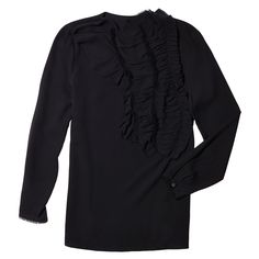 Crushed Ruffle Blouse with Raw Edge Detail