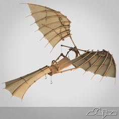 3ds max da vinci flying machine - DaVinci Flying Machine... by shiva3d