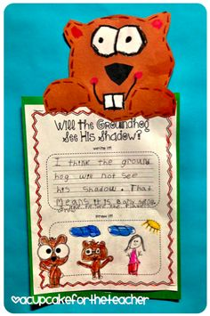Groundhog Writing activity and FREE printables