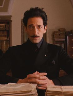 The Many Mustaches of The Grand Budapest Hotel: Adrien Brody as Dmitri