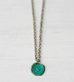 Custom Initial Charm Necklace by Gleeful Peacock on Scoutmob Shoppe