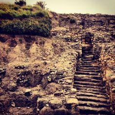 Ancient Stairs at Tel Megiddo, Israel