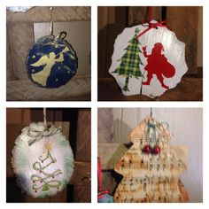 Wood slice ornaments.  Hang them on the tree or write on the back with a sharpie and use as a keepsake gift tag