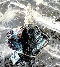 Bismuth Pendant Unique Shape and Color | New Earth Gifts