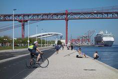 Costa da Caparica Beaches By Bike - Lisbon Bike Path, Lisbon, Beaches, Paths, Costa, Fair Grounds, Street View, Travel, Voyage