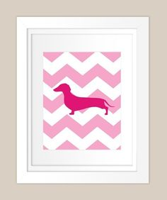 Pink chevron with weenie dog silhouette. I need this
