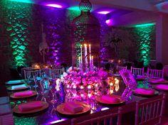 Centro de mesa principal para estos 15 años románticos en Chilecito, La Rioja