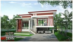 Contact information, map and directions, contact form, opening hours, services, ratings, photos, videos and announcements from แบบบ้านแสงตะวัน, Consulting Agency, , Chum Phuang. Modern Exterior House Designs, Modern House Design, Exterior Design, Stilt House Plans, House On Stilts, Future House, My House, Bungalow House Design, Tropical Houses