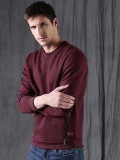 Winter Wear For Men, Men Sweater, Sweatshirts, Long Sleeve, Sweaters, Mens Tops, How To Wear, Stuff To Buy, Fashion