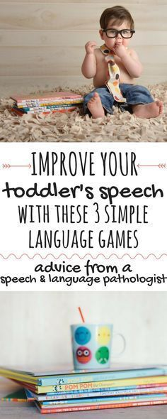 Use these 3 simple language games to improve your child's language development. Th … Use these 3 simple language games to boost your toddler's speech development. These speech activities are based on the research in phonemic awareness and can have a huge Language Activities, Literacy Activities, Infant Activities, Therapy Activities, Toddler Fun, Toddler Preschool, Toddler Games, Toddler Stuff, Teaching A Toddler