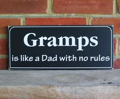 Hey, I found this really awesome Etsy listing at https://www.etsy.com/listing/234952595/gramps-is-like-a-dad-wood-personalized