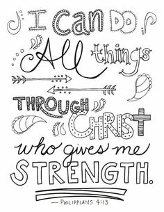 Bible Verse Coloring Page - Philippians - Printable Coloring Page - Bible Coloring Pages - Christian Kids Activity - Christian Coloring Bible Verse Coloring Page, Colouring Pages, Coloring Books, Free Coloring, Coloring Sheets, Adult Coloring, Printable Coloring Pages, Bibel Journal, Bible Verses About Faith