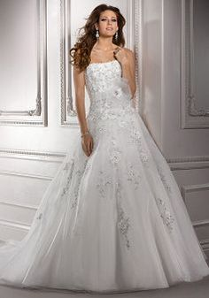 Mysterious Organza Natural Waist Floor Length Ball Gown Chapel Train Wedding Dresses - Lunadress.co.uk
