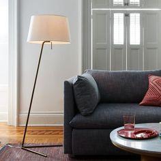 Petite Shade Floor Lamp - Antique Brass | west elm