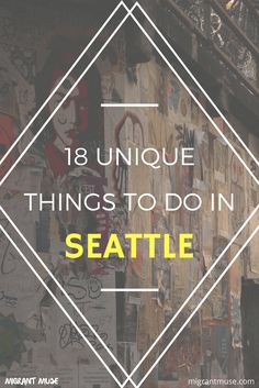 Muse: There are actually some pretty interesting and unique things to do in Seattle, aside from the big name attractions.Migrant Muse: There are actually some pretty interesting and unique things to do in Seattle, aside from the big name attractions. West Coast Usa, West Coast Road Trip, Seattle Vacation, Seattle Travel, Vacation Ideas, Vacation Spots, Michael Johnson, Canada Travel, Travel Usa