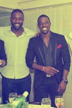 Lance Gross and Idris Elba
