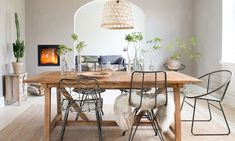 Ideas for a natural dining room decor - Dining Room Ikea Dining Room, Dining Table, Key Design, Decoration, Room Decor, Nature, House, Furniture, Google
