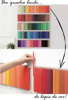 imagem quadro lapis de cor