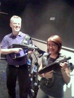 Laser-tag with teachers and staff