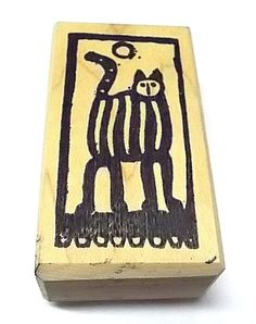 Too Much Fun Cat rubber stamp rare offbeat art stamps pets 6013 G mounted  #TooMuchFun #Cats